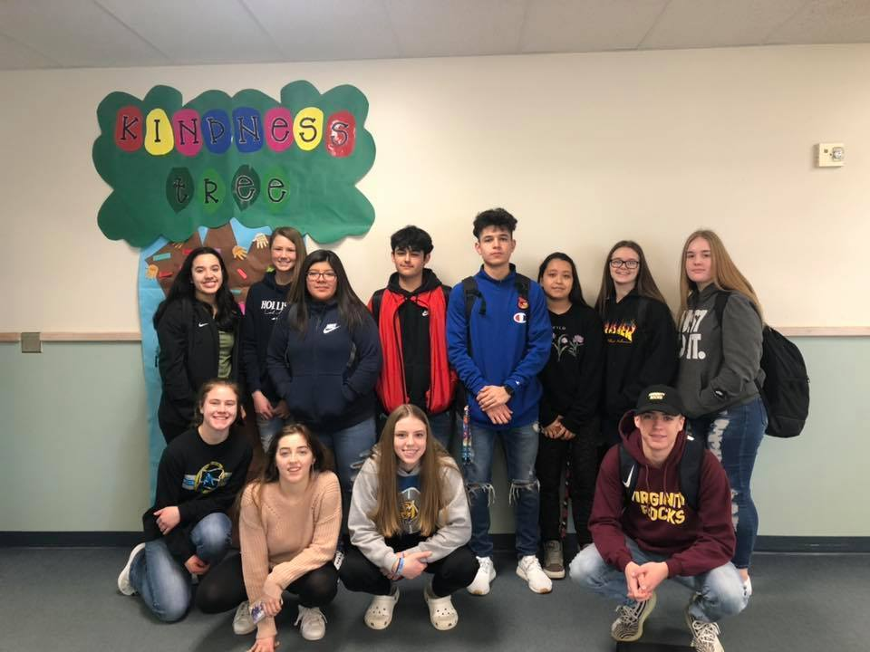 National Honor Society students during kindness week